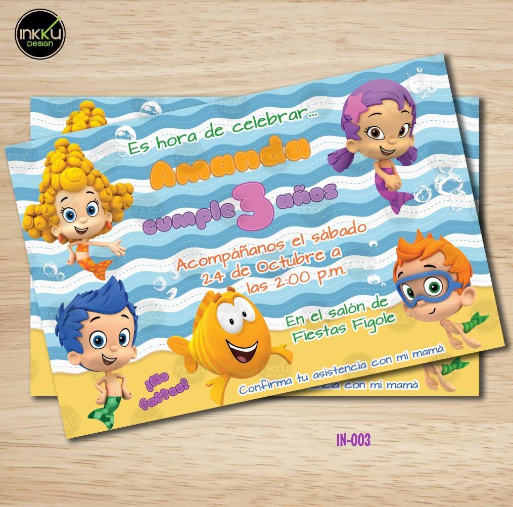 Invitaciones personalizadas para fiestas infantiles, cumpleaños o ...