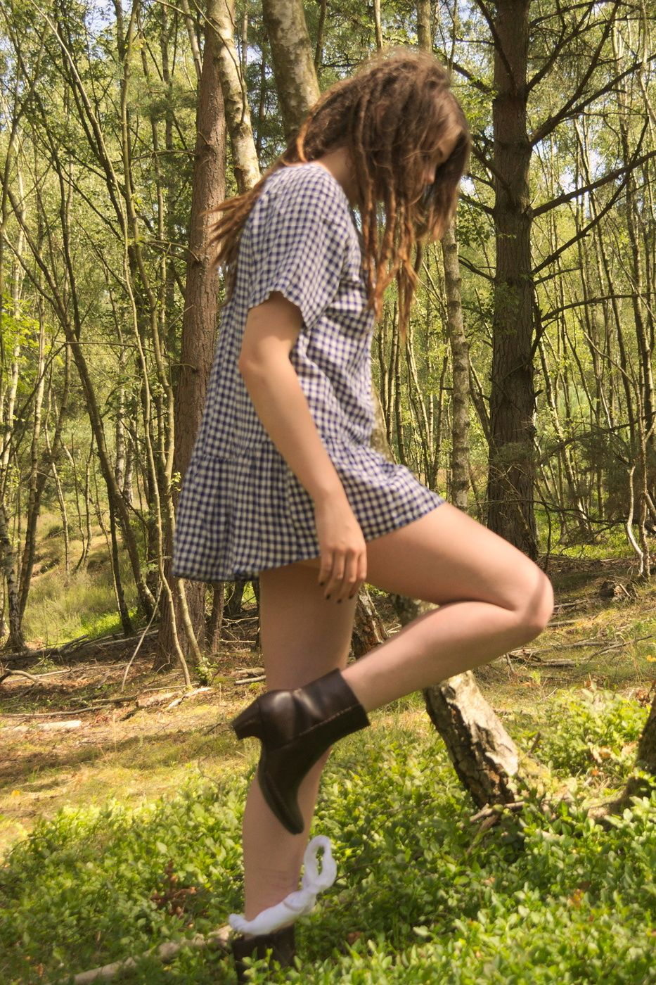 Accept. opinion sensual lady in woods excited
