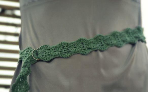 Fancy Fan Stitch Crochet Belt Free Pattern Crocheting Pinterest
