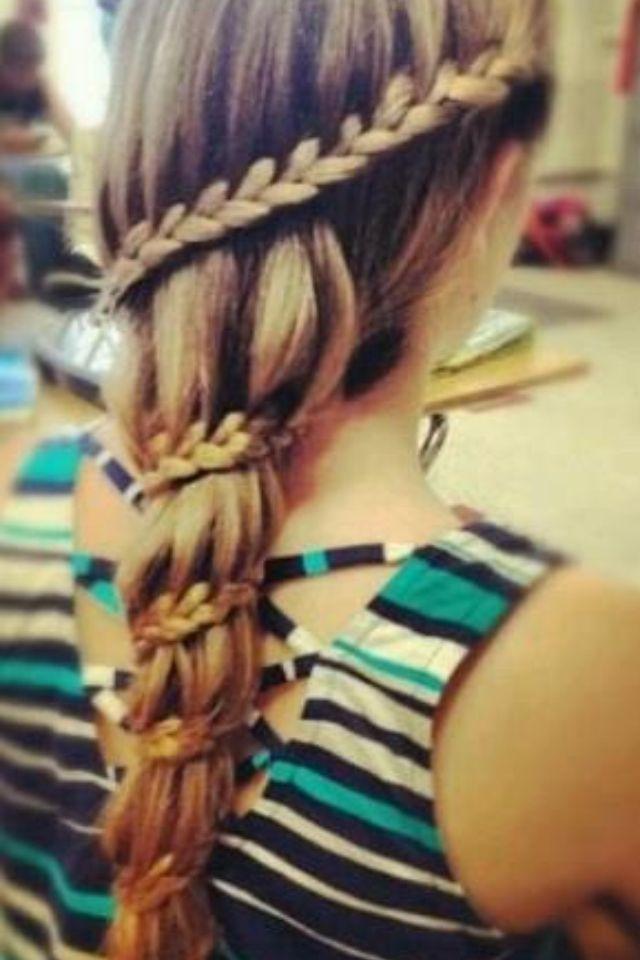 Awesome waterfall braid!!!