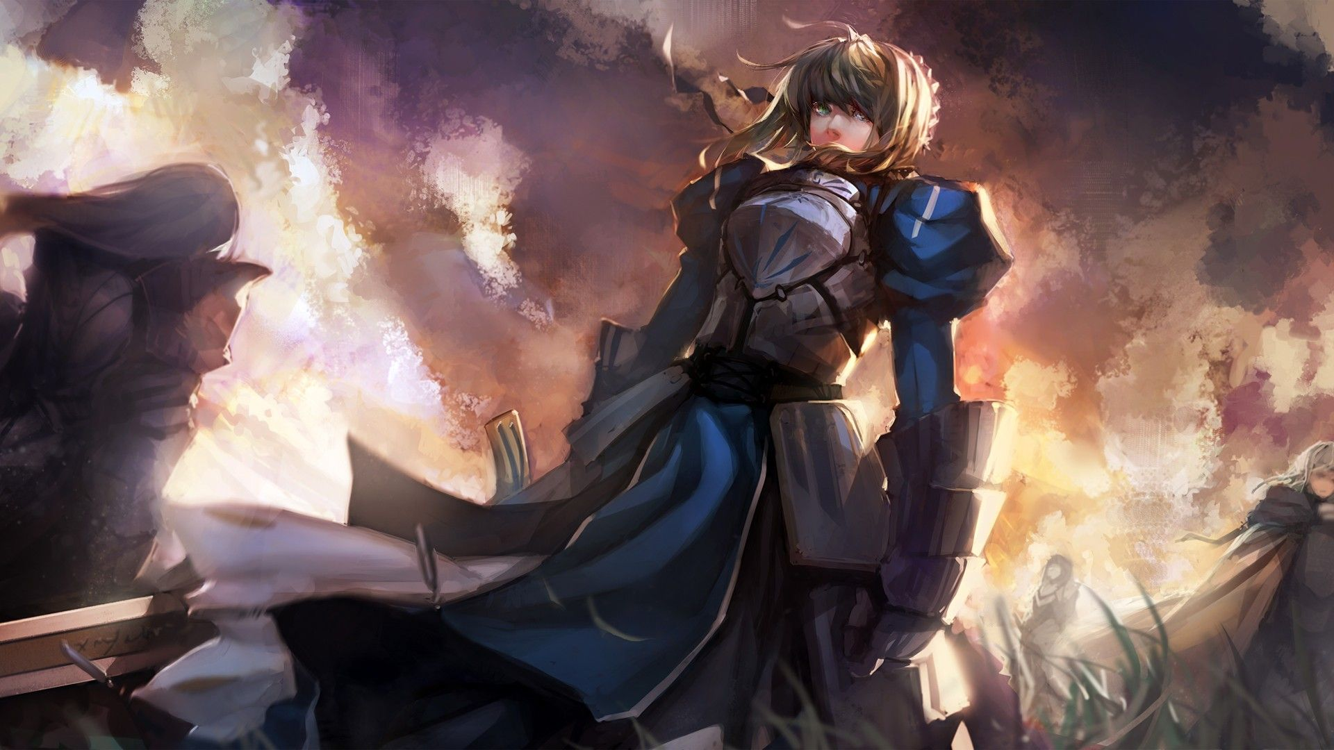 Fate/Stay Night, Saber Artwork Anime wallpaper