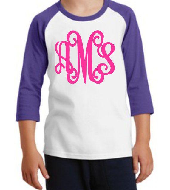 monogrammed raglan youth raglan monogrammed shirt monogrammed youth raglan childs raglan