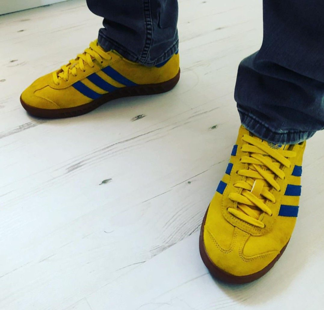 Adidas spezial malmo colourway on feet on the street