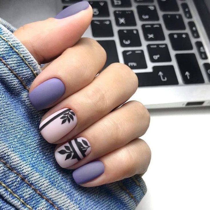 Top 50 photos of purple short nails to look cool