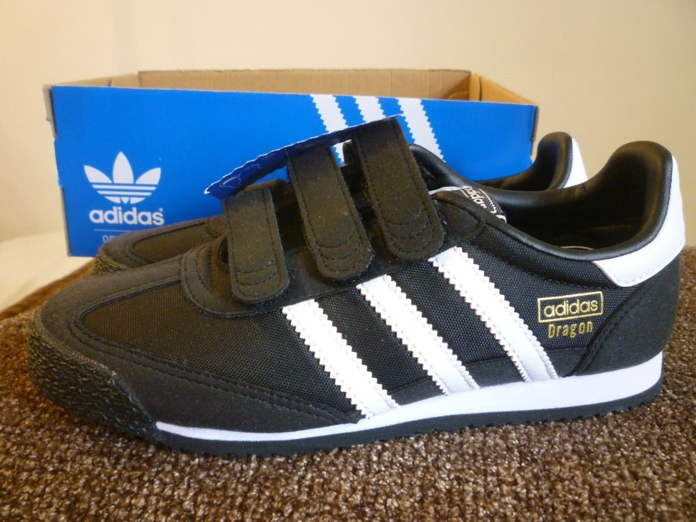 adidas Originals Dragon OG CF Sneakers Kids 3 Black $50 New