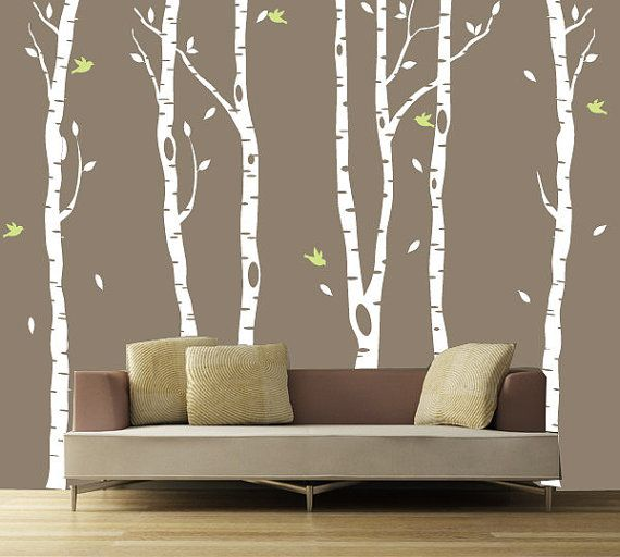Tree Wall Decal Birch Forest Wall Sticker 20 By ArtHomeDecal, $95.00