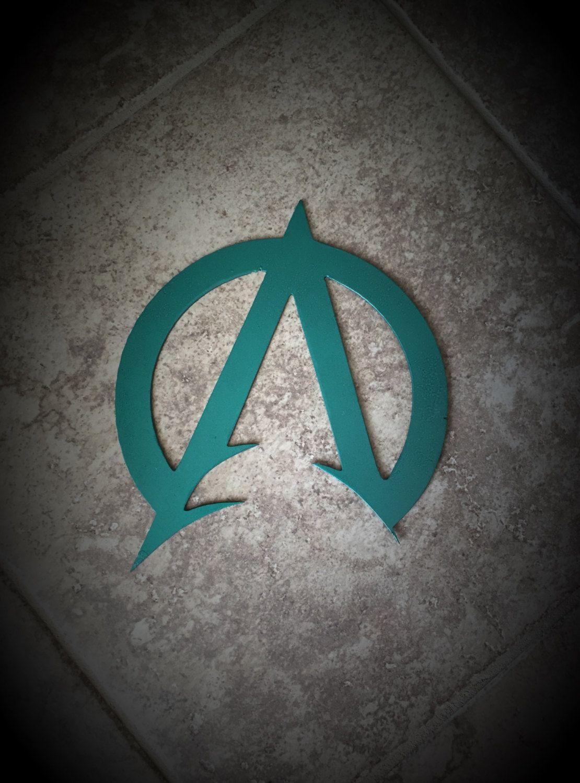 Superhero dc aquaman justice league symbol metal wall art decor aquaman symbol more biocorpaavc Choice Image