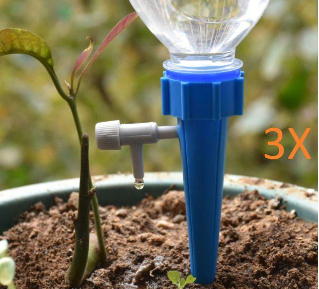 3Pcs Drip Irrigation Plant Diy Automatic Drip Water Taper 400 x 300