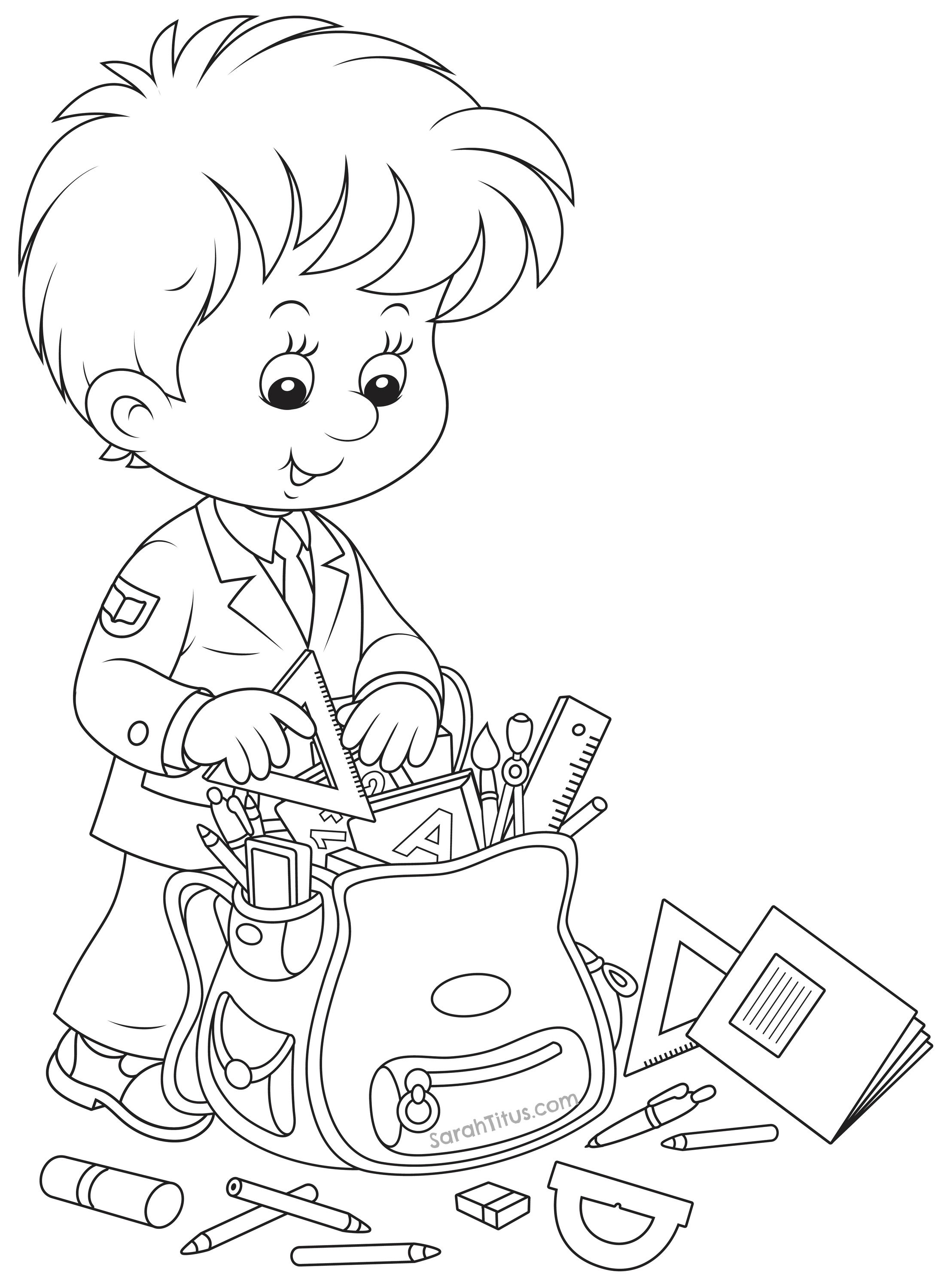 Back to School Coloring Pages | Ausmalbilder, Schulanfang und Schule