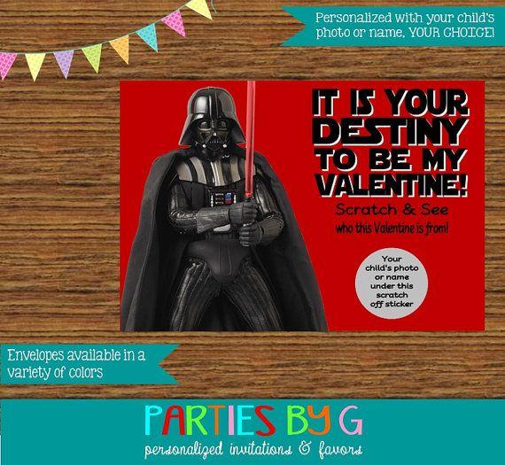 Star Wars Darth Vader Valentine's Day Scratch Off by PartiesByG