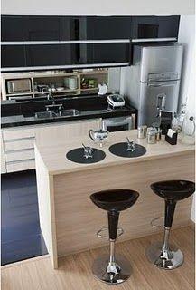 Cozinha: branca e preta