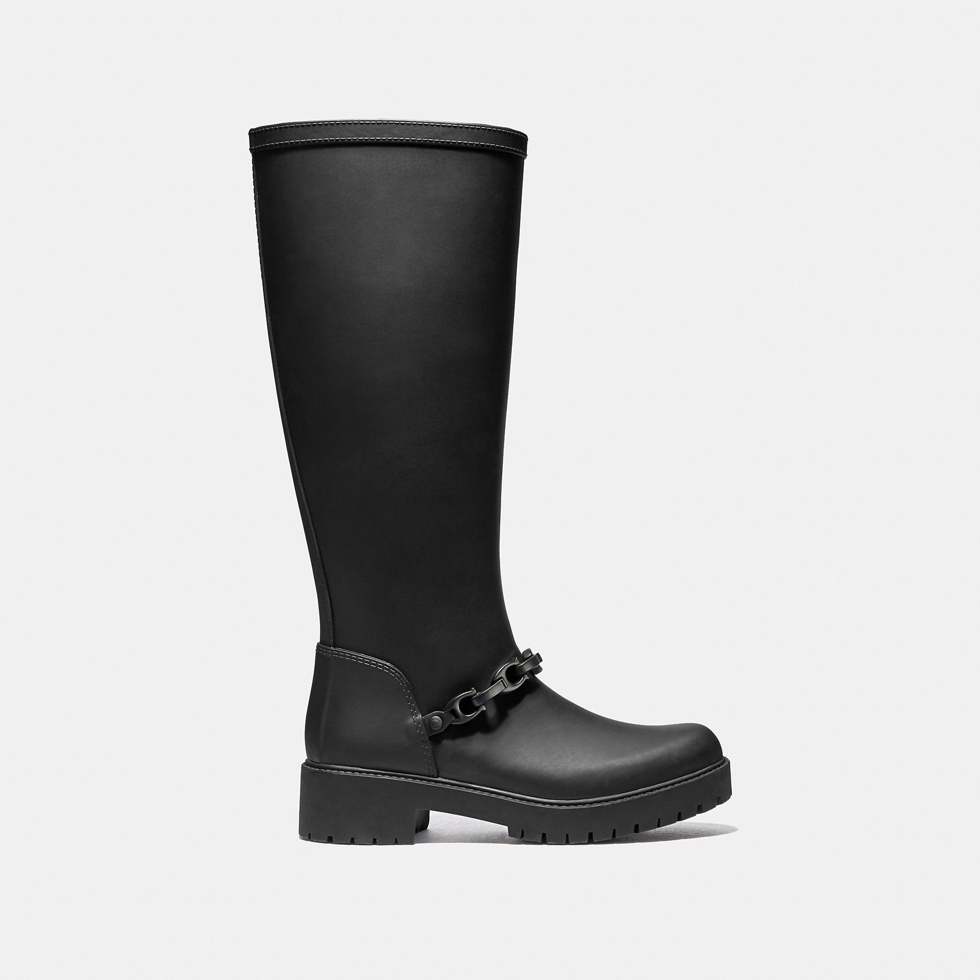 19e1194b COACH Westerly Tall Rain Boot - Women's Size 10 | Products | Coach ...