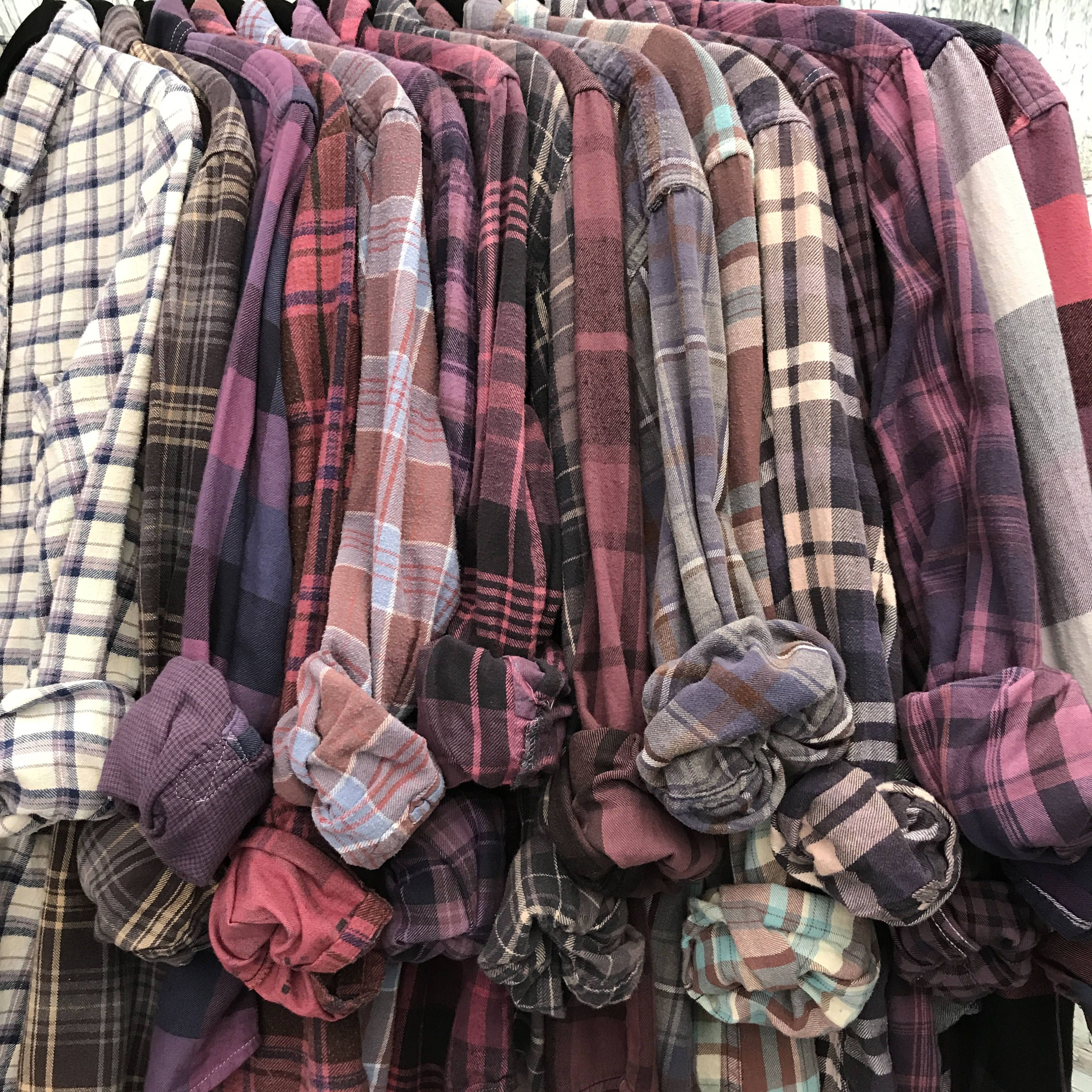 Made to order bridesmaid flannel shirts vintage flannels