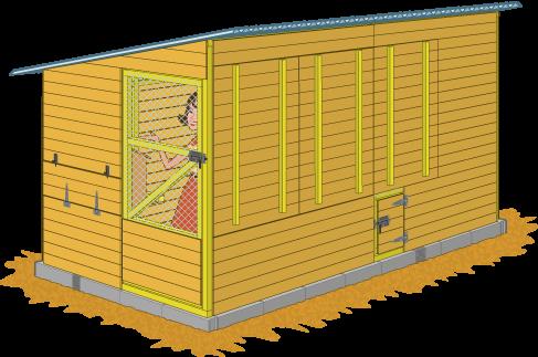 Guide Complet Pour Construire Le Poulailler Coquelicot Plan Poulailler Construire Un Poulailler Poulailler