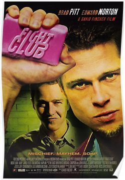 'Fight Club Movie Poster' Poster by ZJCustoms is part of Fight club poster, Club poster, Fight club, Good movies, Fight club 1999, Movie posters - Millions of unique designs by independent artists  Find your thing