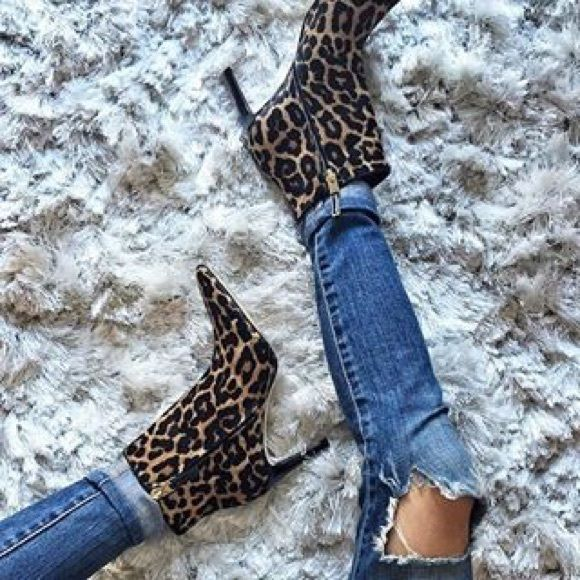 6f237b619eee0 Sam Edelman leopart bootie Adorable bootie with jeans or a dress. Style   karen. Leopard calf hair. 3