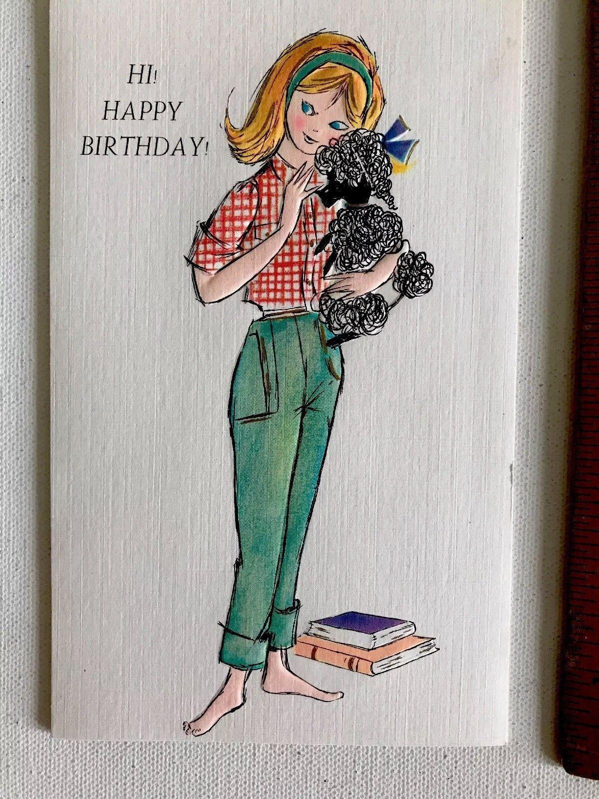 Vintage Unused Greeting Card Assortment Anniversary Birthday Etc