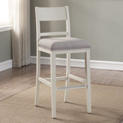 Ophelia Co Kevon Bar Counter Stool Upholstery Ivory Color