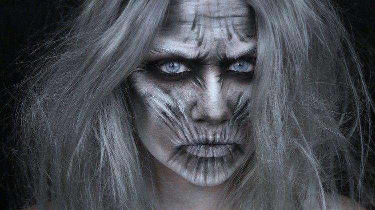 Weiße Wanderer Halloween Make Up Selber Machen Anleitung Ideen