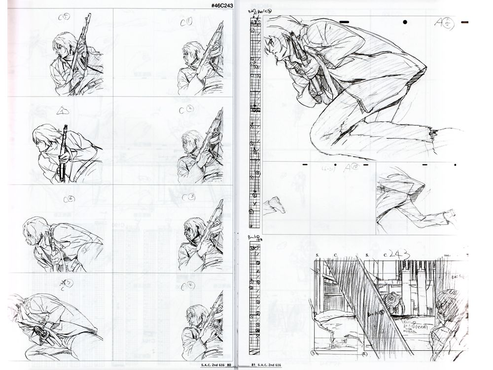 Groundworks of Ghost in the Shell SAC 2nd GIG Art Book - Anime - anime storyboard