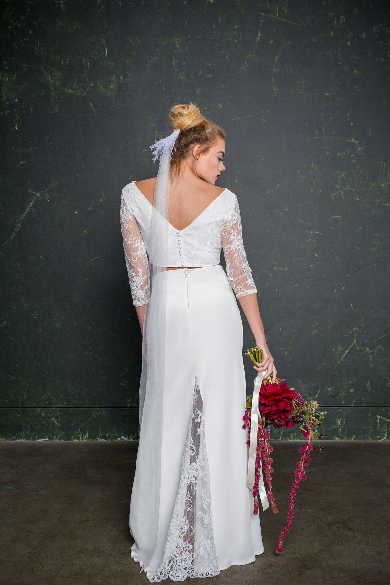 Super slinky, Jessica Rabbit style bridal skirt made from 100% silk ...