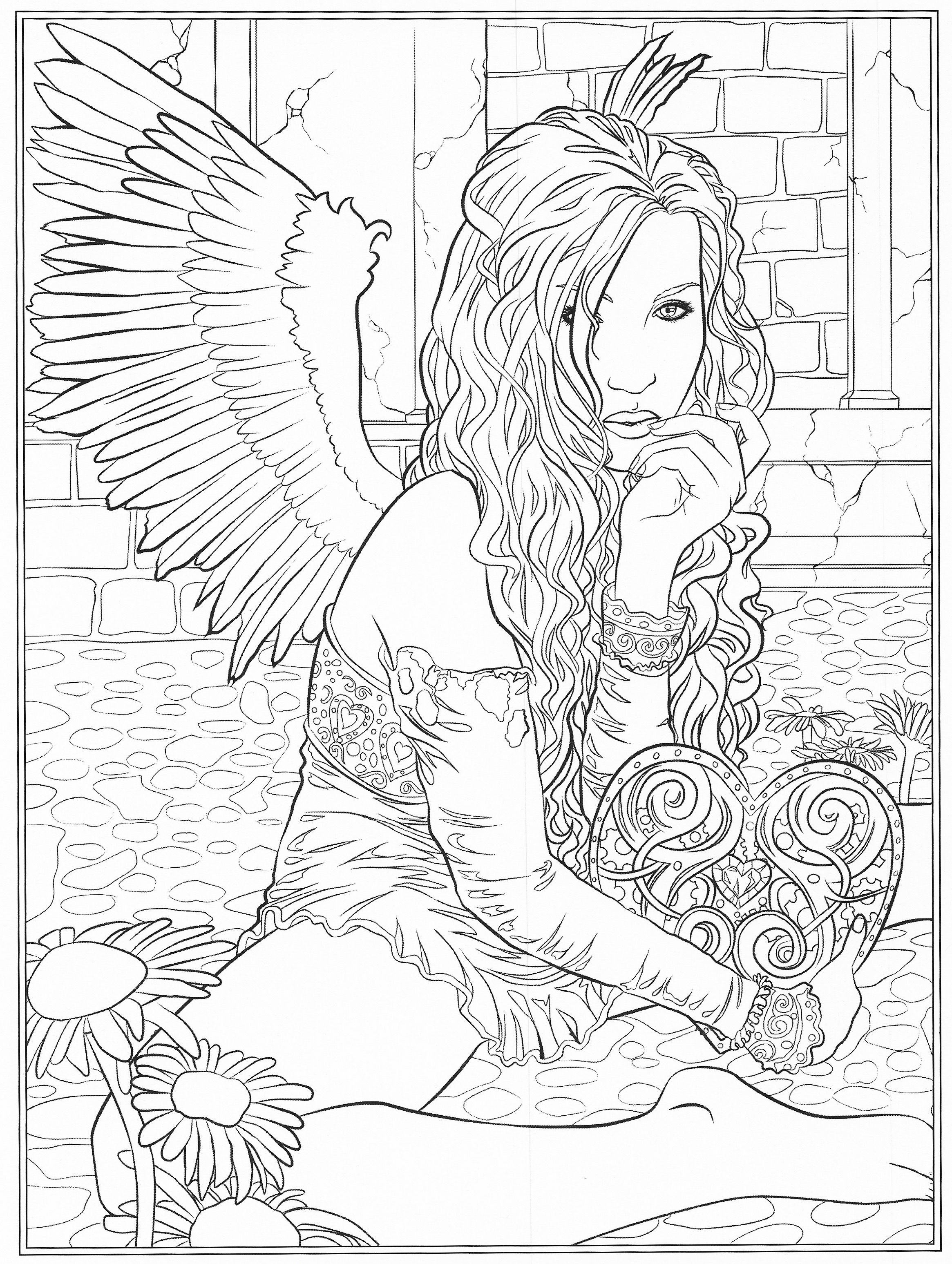 Pin By John Rielo On Coloring Pages Angel Coloring Pages Fairy Coloring Pages Coloring Pages