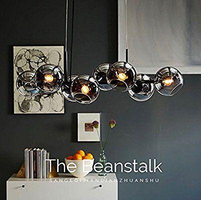 ZMH LED Pendelleuchte esstisch Hängeleuchte mit 8-Flammig Glas - bar fürs wohnzimmer