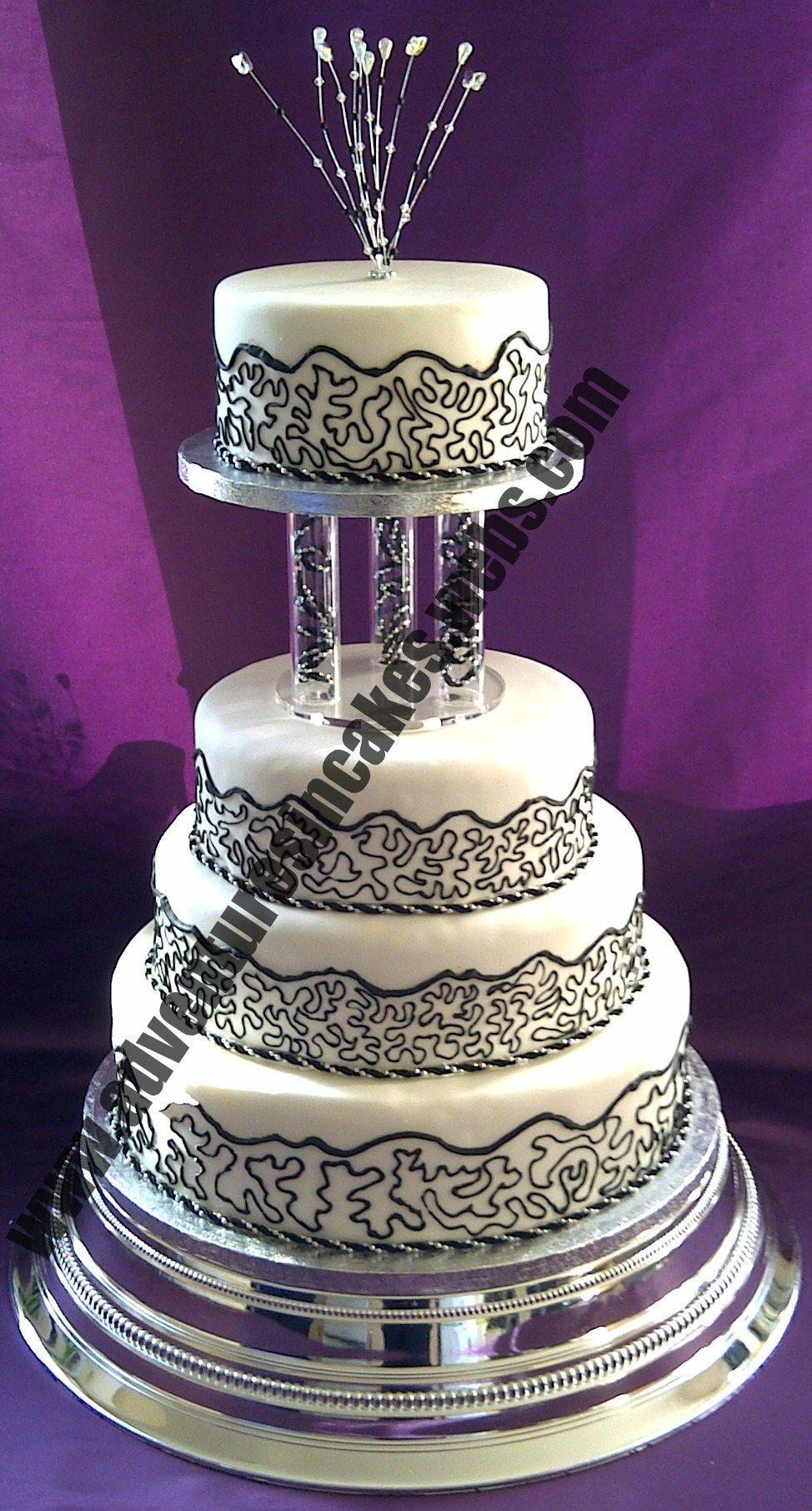 Beautiful Black And Silver Wedding Cakes Photos - Styles & Ideas ...