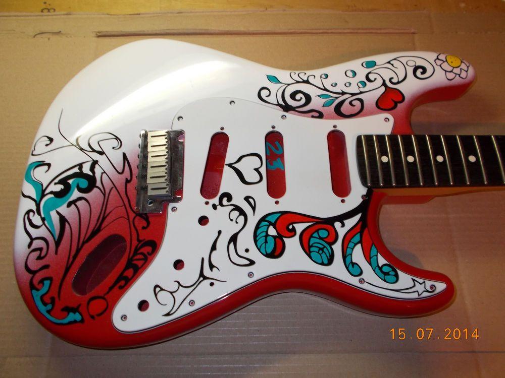 #Hendrix Monterey Pop Strat Guitar Body+Pickguard USA Jimi's Version Pre-order#25 #guitarsbydesign