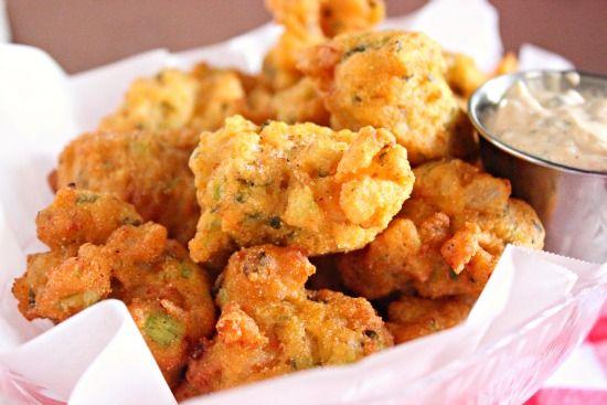 Shrimp Hushpuppies Recipe Recipes Food Seafood Recipes