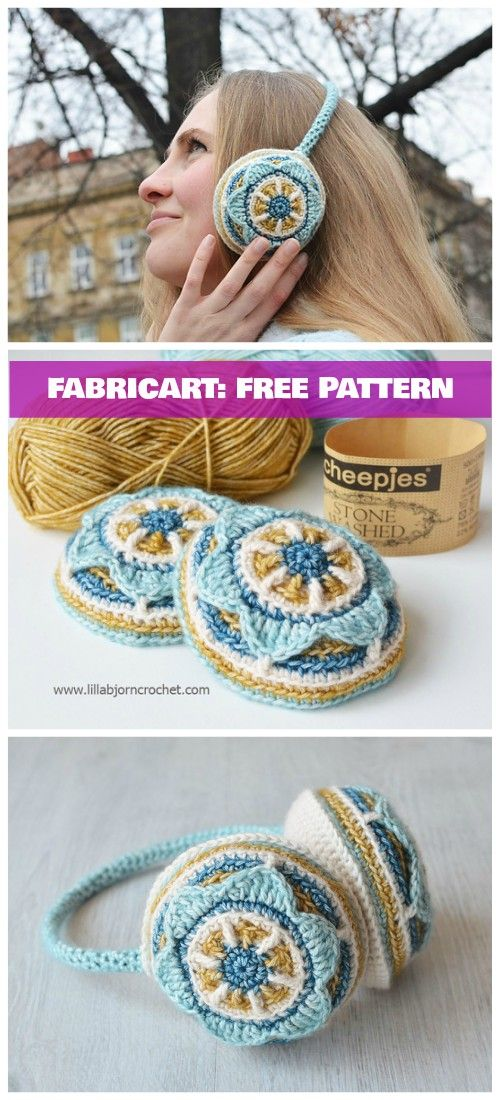 Crochet Floral Ear Muffs Free Pattern | Crochet | Pinterest