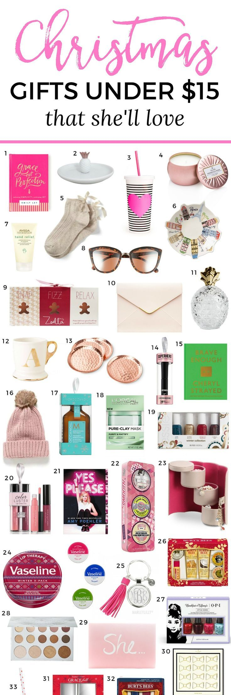 the best christmas gift ideas for women under $15 | gifts for women