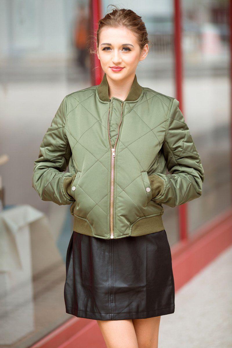 Bella philosophy spring cottonpadded bomber jacket women