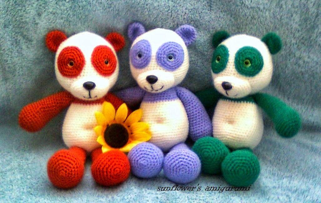 Amigurumi Pandad.Amigurumi Same Smile Pandas.