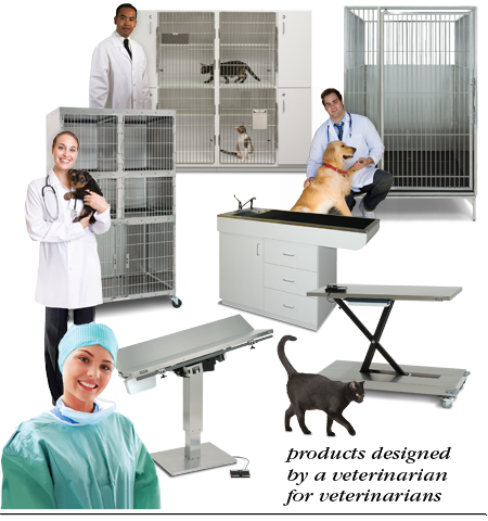 Products designed by a veterinarian for veterinarians