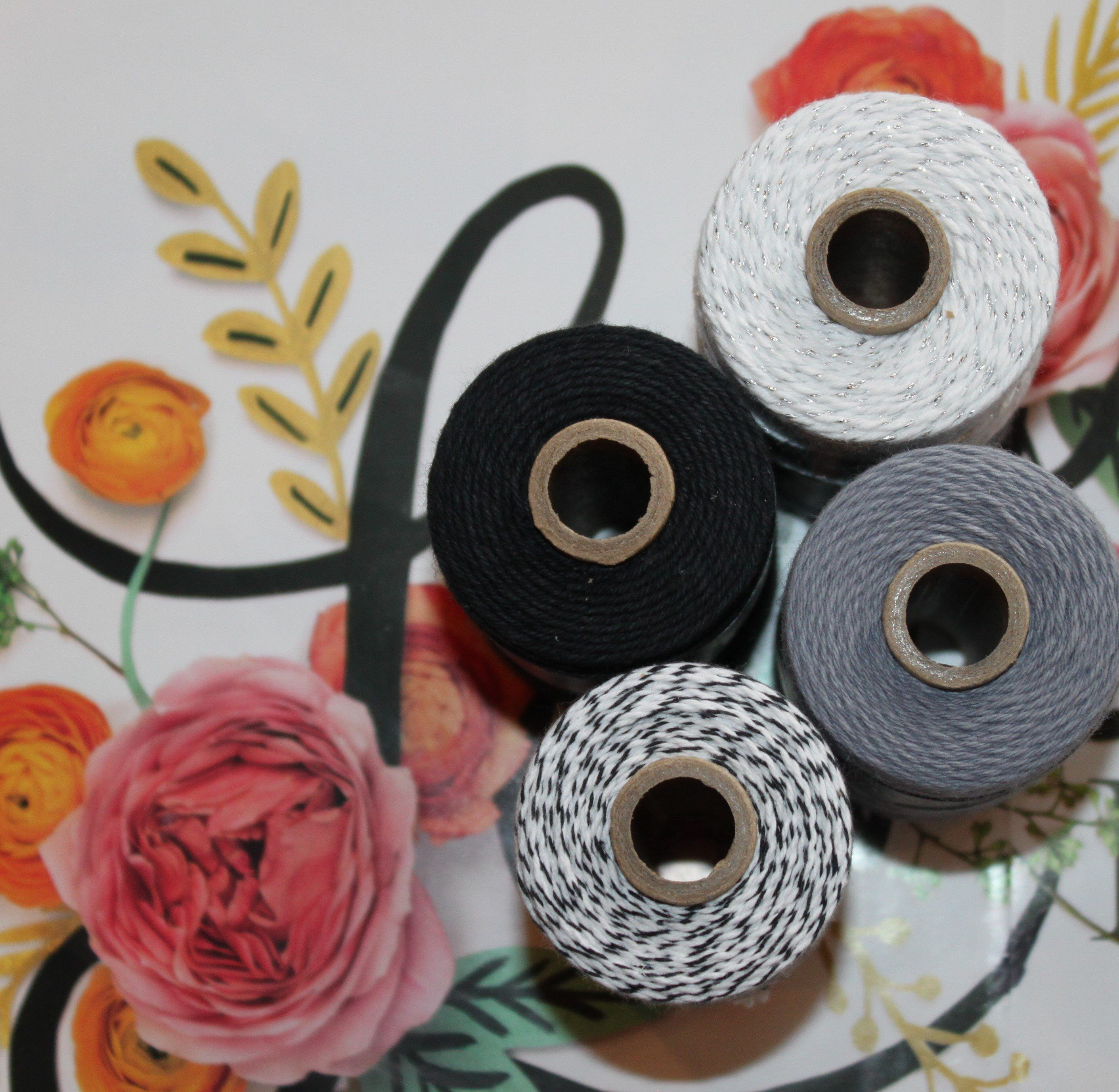 Black solid divine twine bakers twine gift wrap diy crafts belly