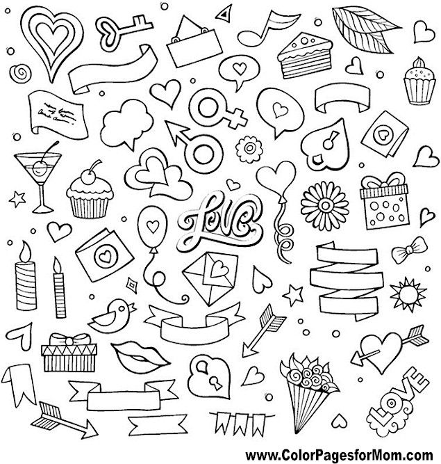 Doodle Coloring Page Color Pages For Mom Coloring Books