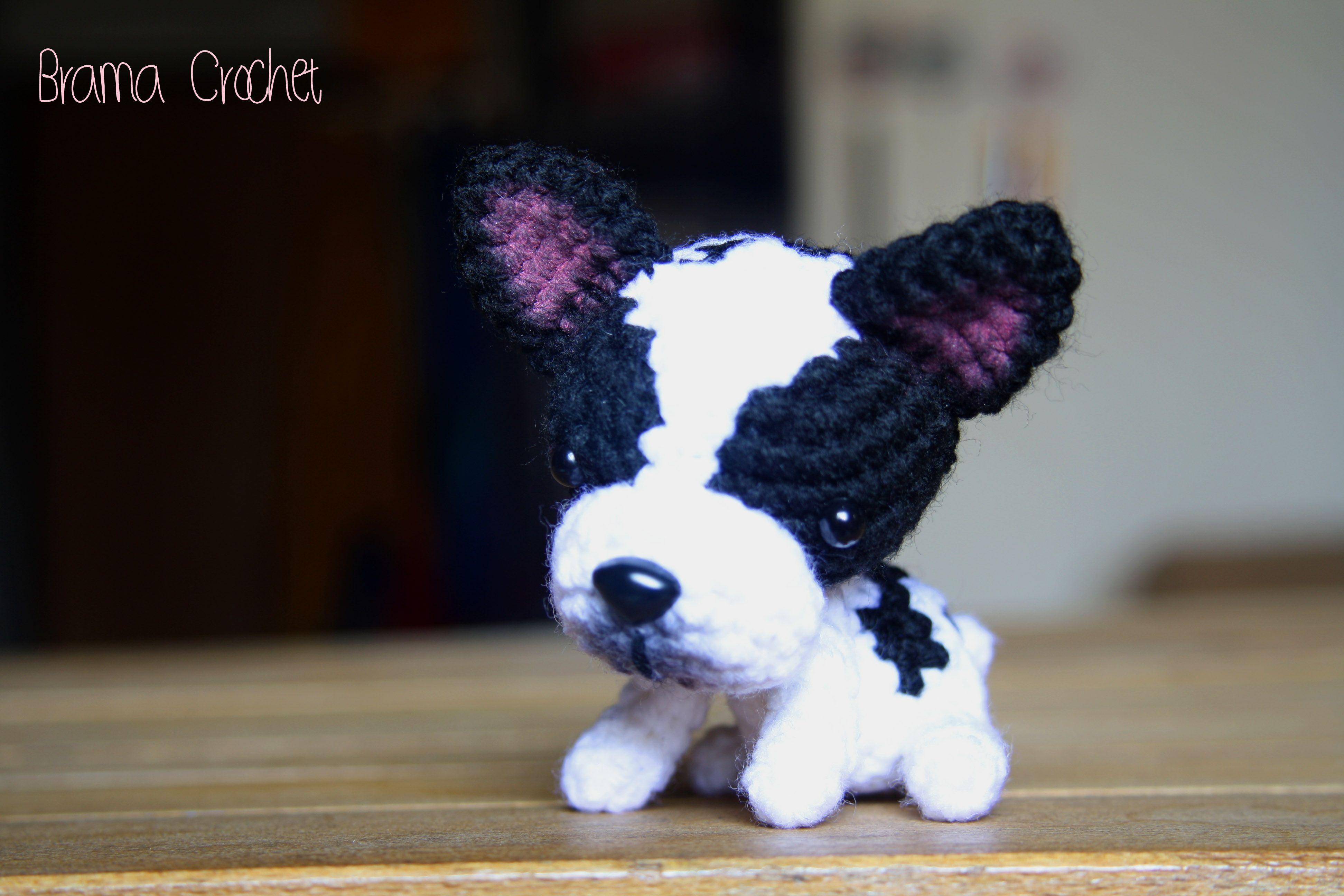 Rita! French Bulldog Amigurumi doll by Brama Crochet