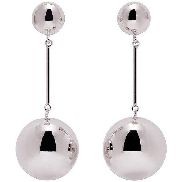J.W.Anderson Silver sphere palladium-plated earrings lk6T8g3T