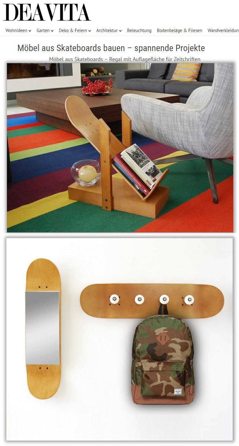 mbel aus skateboards fr wohnzimmer - Skateboard Regal Kinder Schlafzimmer