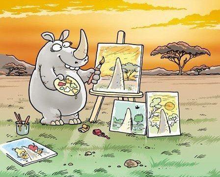 rhino horns:))) funny