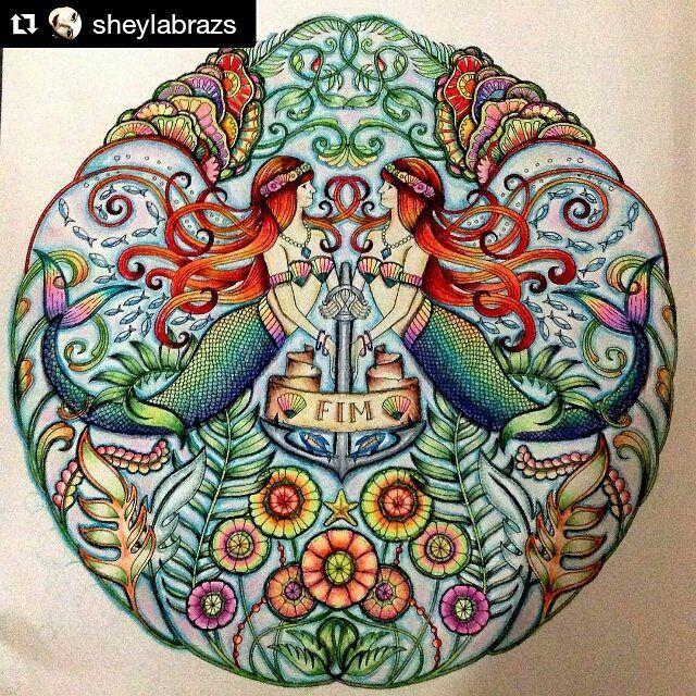 Instagram media desenhoscolorir - Incrível como sempre @sheylabrazs  #oceanoperdido #lostocean #livrodecolorir #desenhoscolorir #jardimsecreto #johannabasford