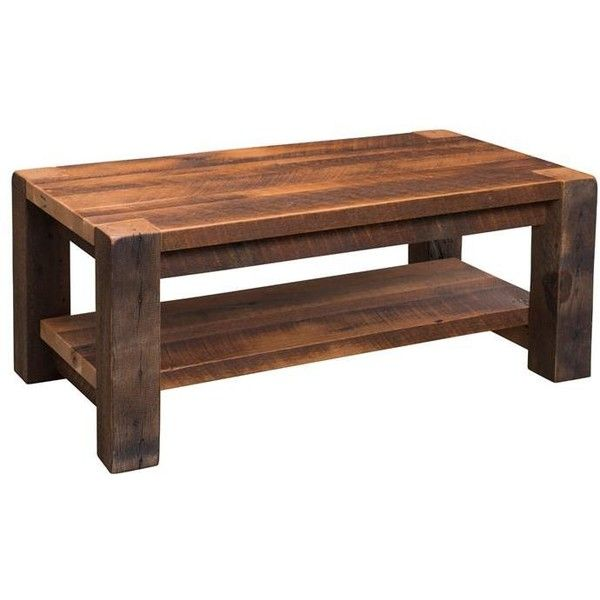 Reclaimed Timber Ridge Coffee Table Found On Polyvore Featuring Home,  Furniture, Tables, Accent Tables, Standing Shelf, Reclaimed Wood Shelves,  Top Table, ...