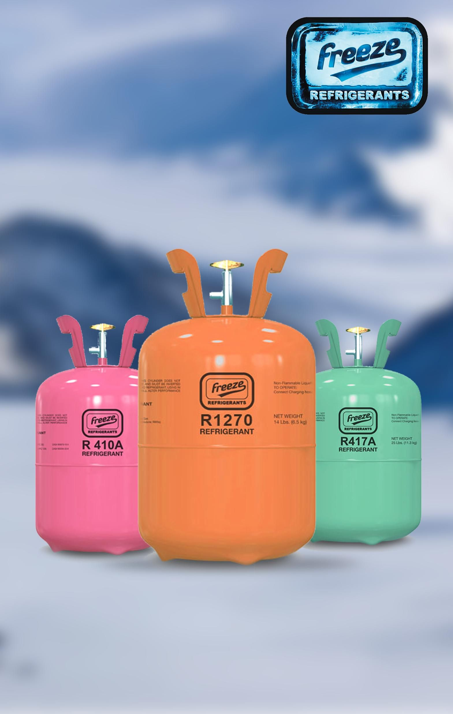Anchoring the huge demand for refrigerant gas is Freeze