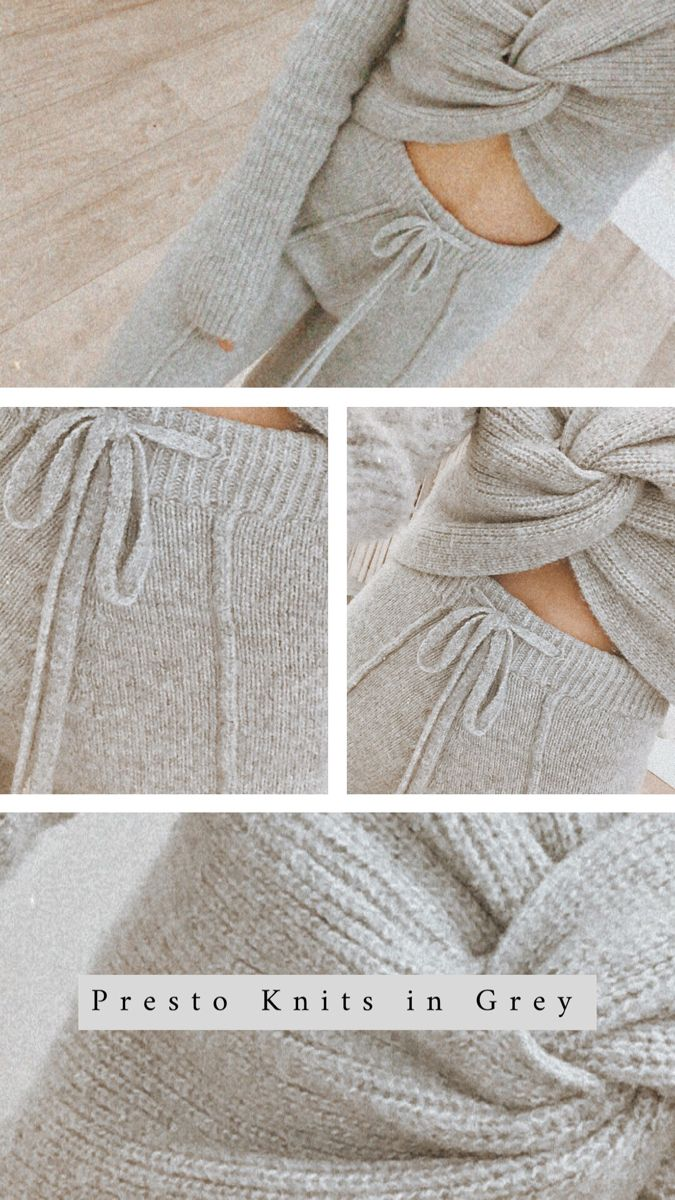Stay comfy at home in these grey knit essentials  #winonaaustralia #greyknitset #knitwear #winteroutfit #wintermood #fuzzyfeeling #staywarm