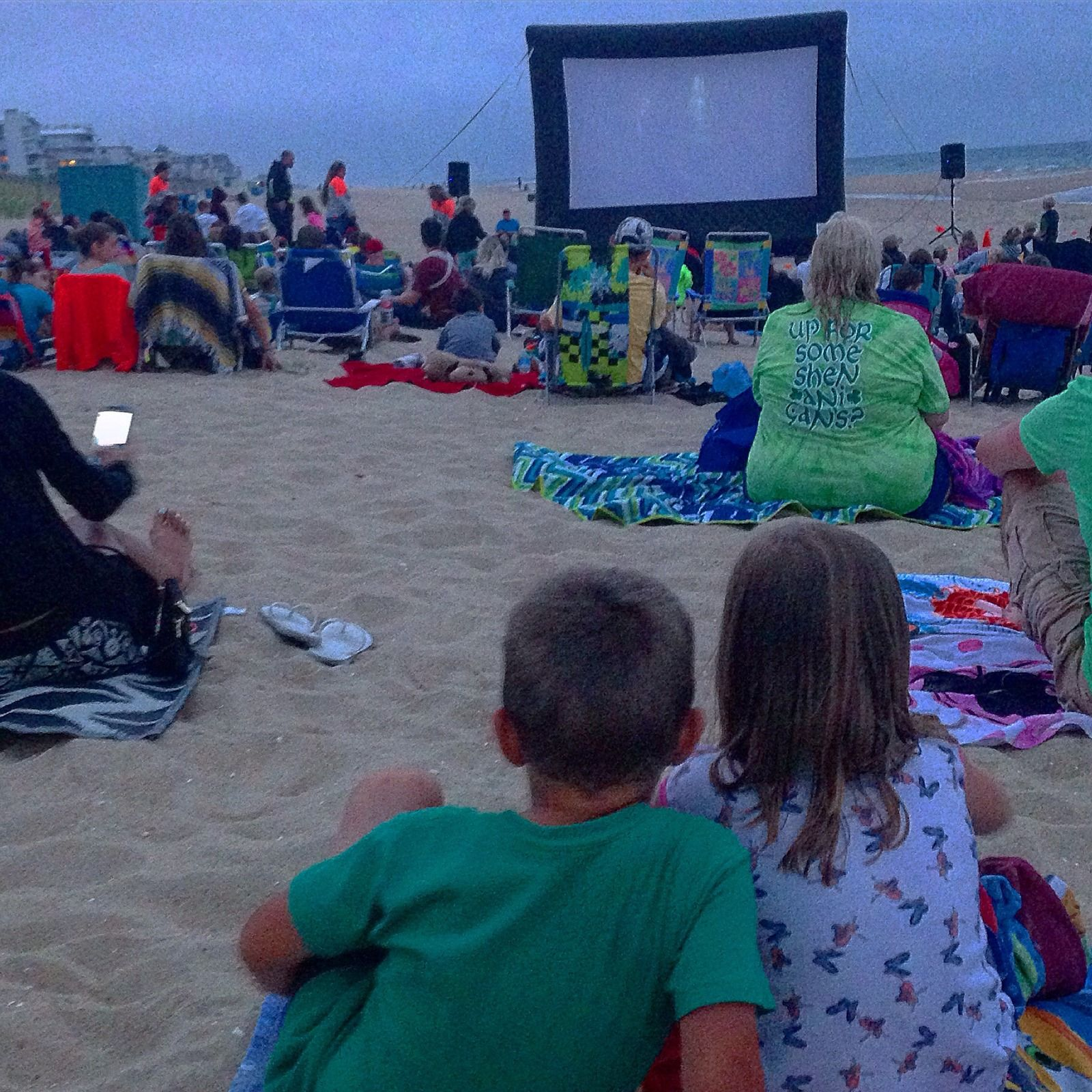 Movies on the Beach at the Carousel  Ocean city Ocean