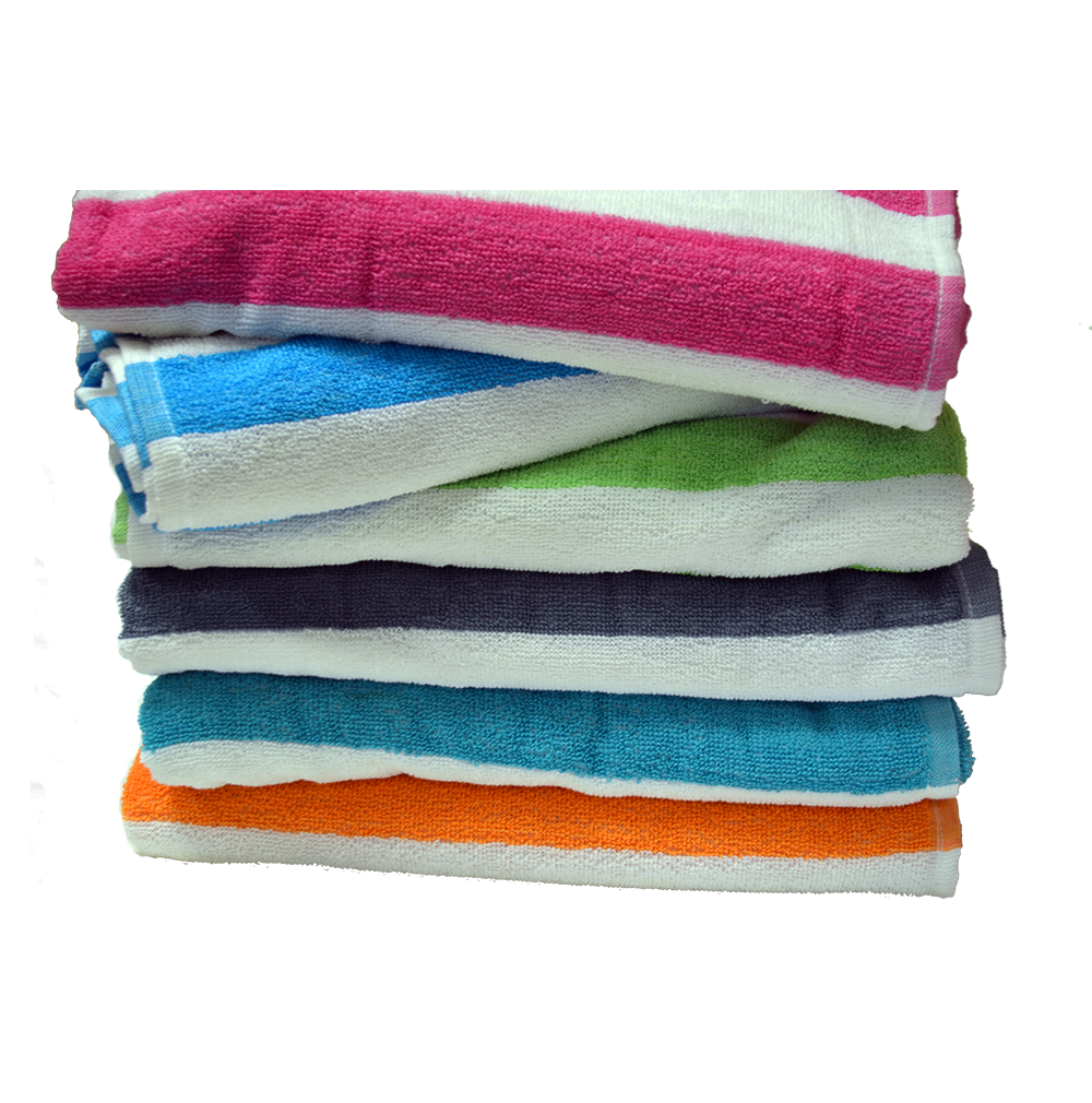 Cabana Stripe Towels Economy Assorted Colors With Images