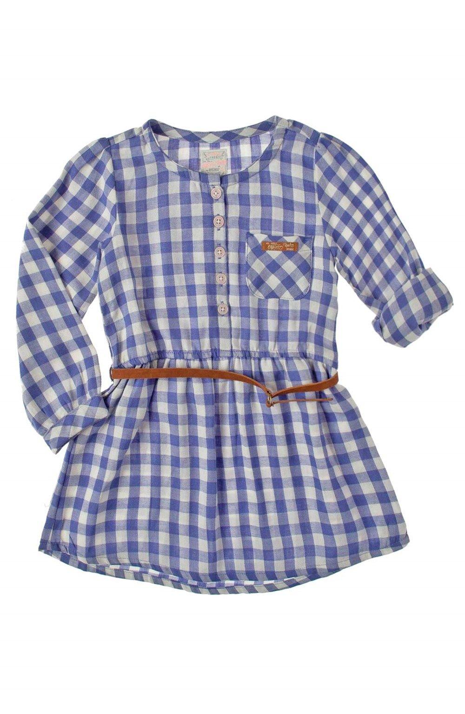 94afb6778 Vestido en tejido plano manga larga para bebe niña.Compra en la tienda On  Line de Off Corss - OFFCORSS