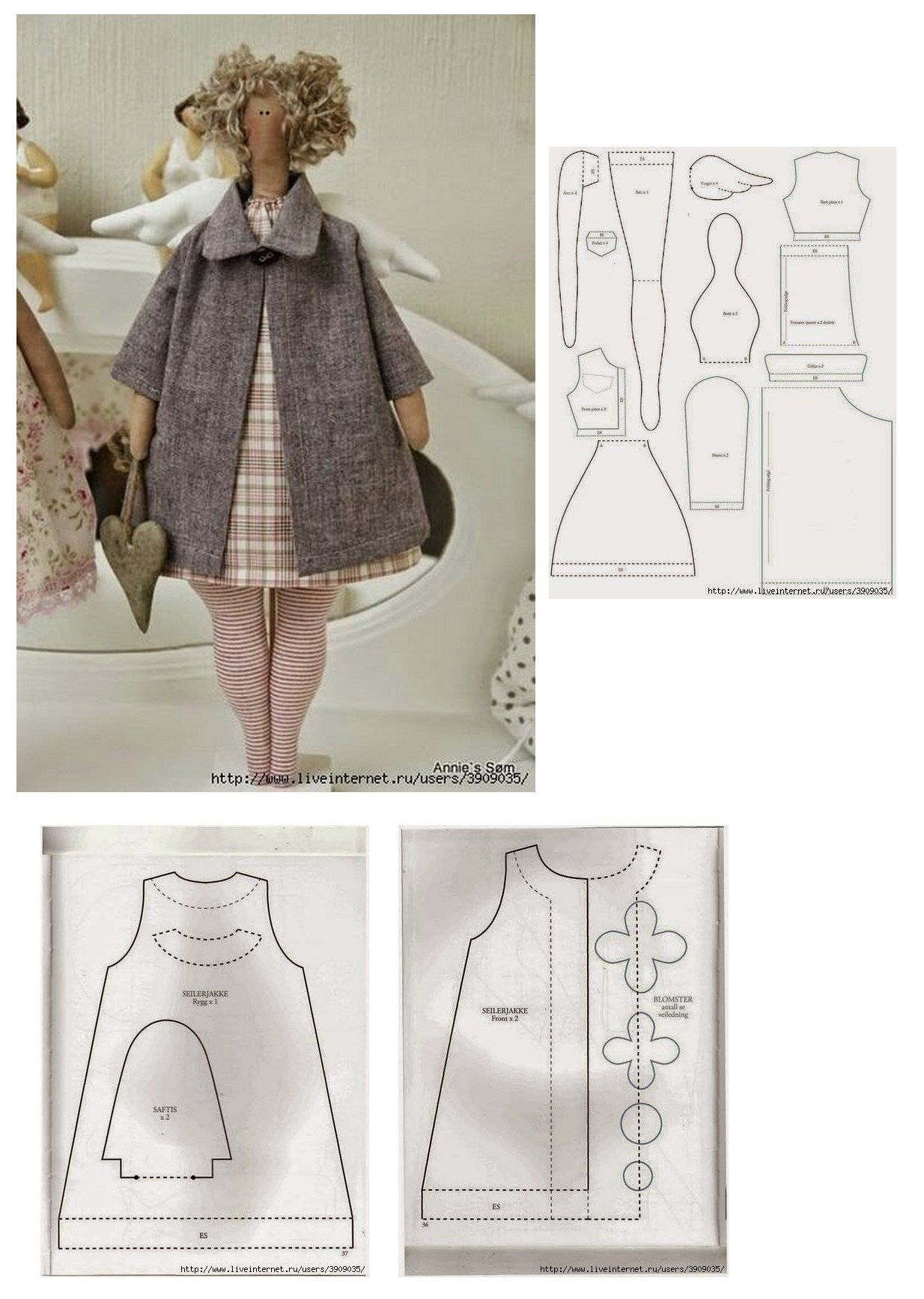 Tilda doll pattern | Craft - no $ | Pinterest | Muñecas, Muñecas de ...