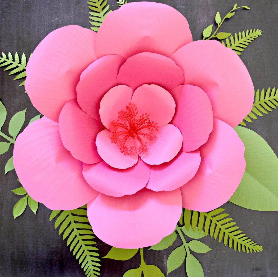 Giant Hibiscus Paper Flower Template